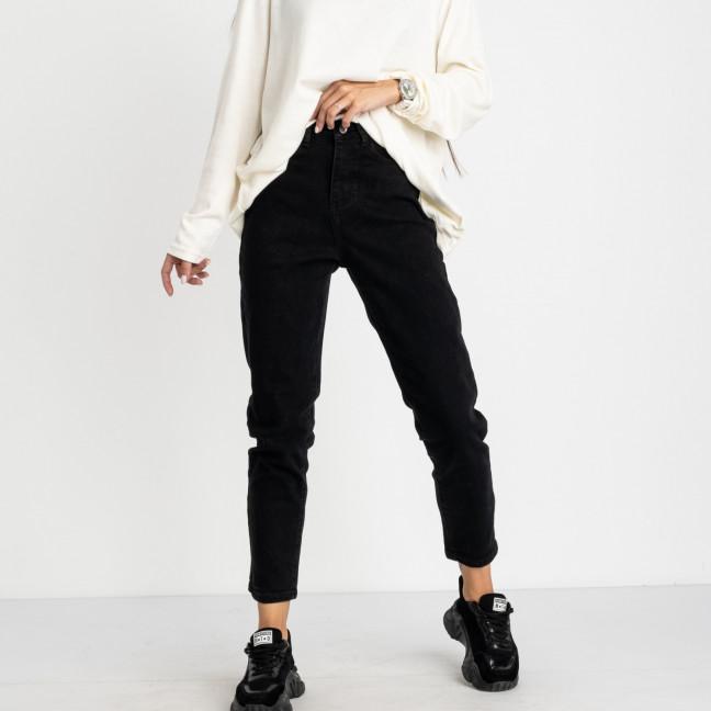 5011 New Jeans мом женский черный стрейчевый (6 ед. размеры: 25.26.27.28.29.30) New Jeans: артикул 1123629