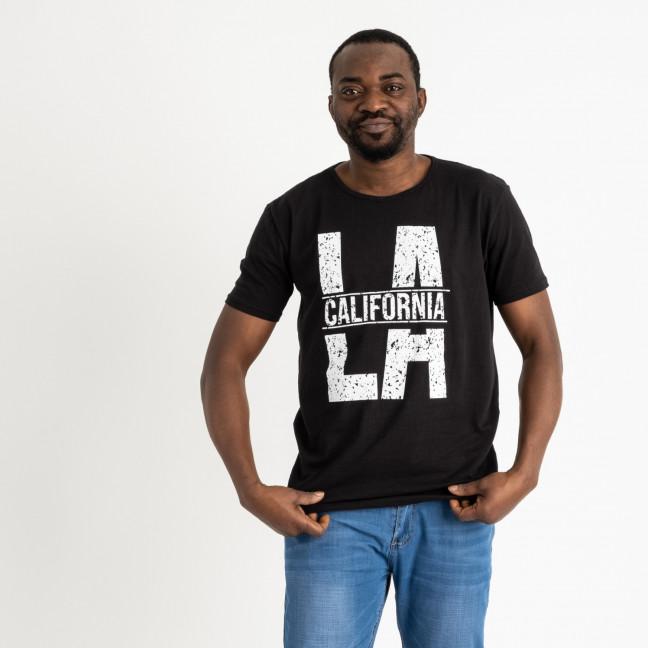 2711 черная футболка батальная мужская с принтом (4 ед. размеры: 2XL.3XL.4XL.5XL) Футболка: артикул 1118892