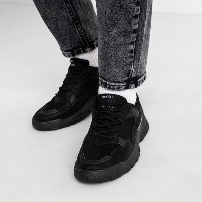 131120-11 черные кроссовки мужские (10 ед. размеры: 39.40.40.41.41.42.42.43.43.44) Кроссовки: артикул 1119486