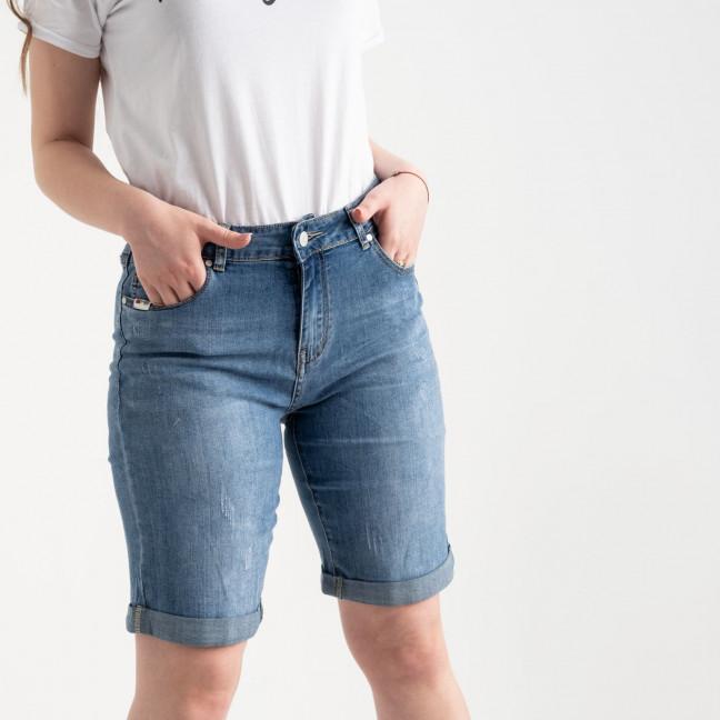 0710 New Jeans шорты батальные голубые стрейчевые (6 ед. размеры: 31.32.33.34.35.36) New Jeans: артикул 1121484