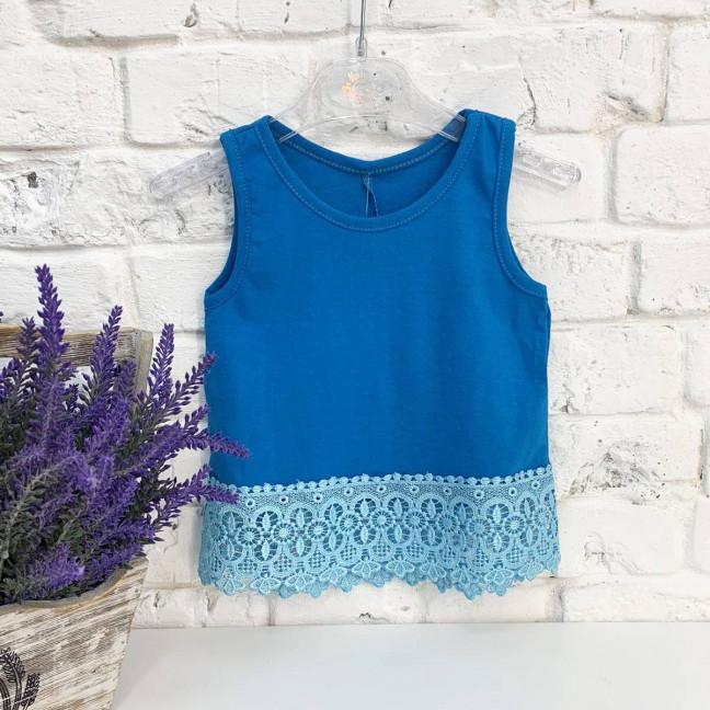 1021-12 майка синяя на девочку1.5-3 года (3 ед. размеры:86.92.98) Маленьке сонечко: артикул 1121817