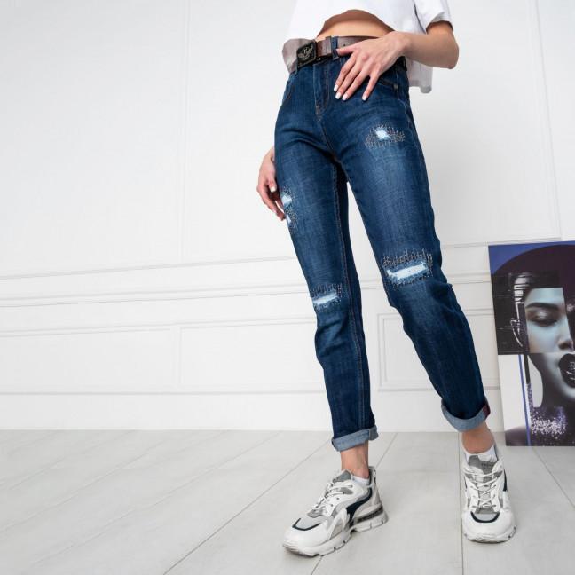 7032 OK&OK джинсы женские синие стрейчевые (6 ед. размеры: 25.26.27.28.29.30) OKOK: артикул 1123458