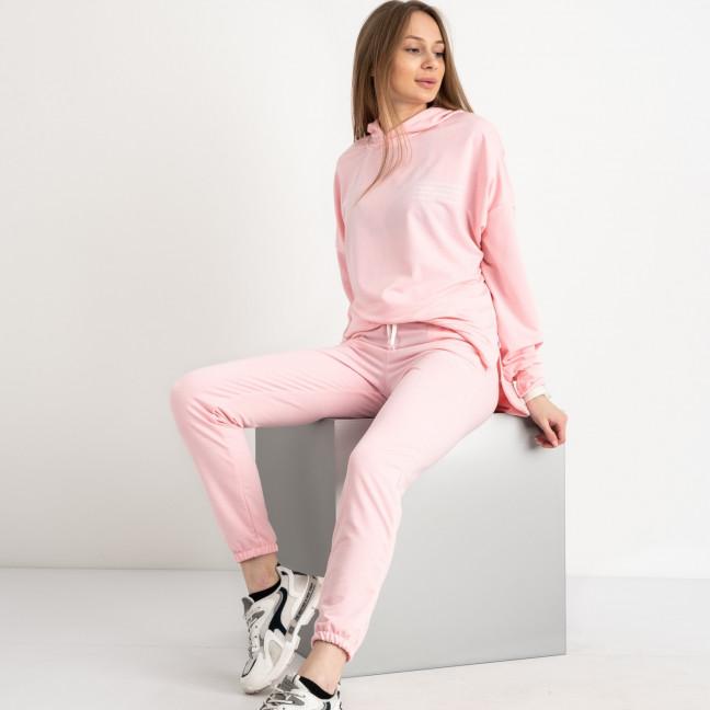 15115-127 Mishely розовый женский спортивный костюм из двунитки  (4 ед. размеры: S.M.L.XL) Mishely: артикул 1122572