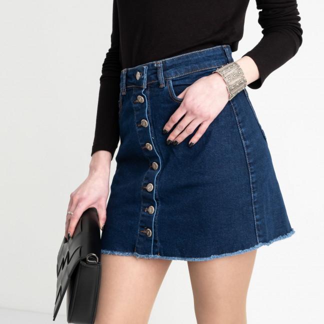 0590-Pusl Arox юбка джинсовая на пуговицах синяя  стрейчевая (4 ед. размеры: 34.36.38.40) Arox: артикул 1105543