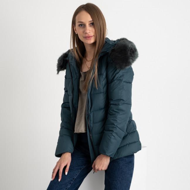 0906-4 темно-зеленая куртка женская на синтепоне (4 ед. размеры: L.XL.2XL.3XL) Куртка: артикул 1123509