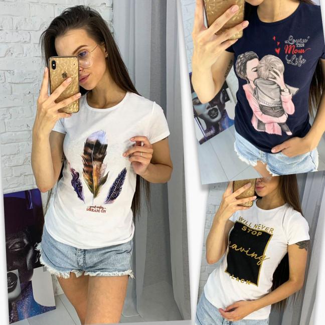 3702-99 футболка женская микс 3-х моделей и цветов без выбора цветов (15 ед. размеры: универсал 42-44) МИКС: артикул 1122954