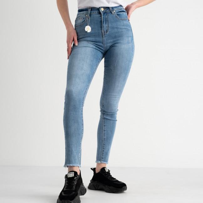 0646 New Jeans американка голубая стрейчевая  (6 ед. размеры: 25.26.27.28.29.30) New Jeans: артикул 1117679