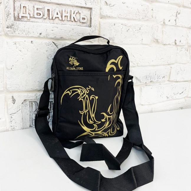2098-1 черная сумка мужская наплечная (5 ед.) Сумка: артикул 1121380