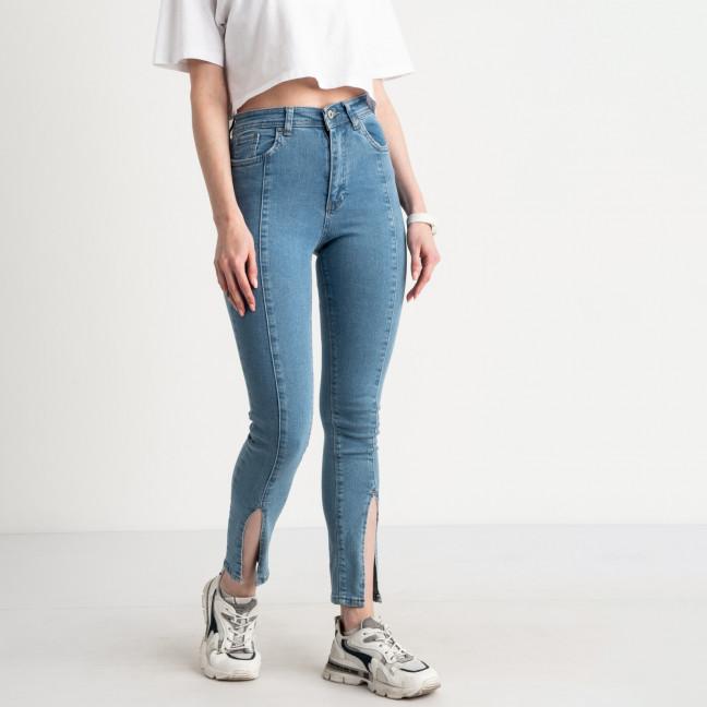 0808-2 Plus Denim джинсы голубые с разрезом стрейчевые (4 ед. размеры: 36.38.40.42) Plus Denim: артикул 1124470