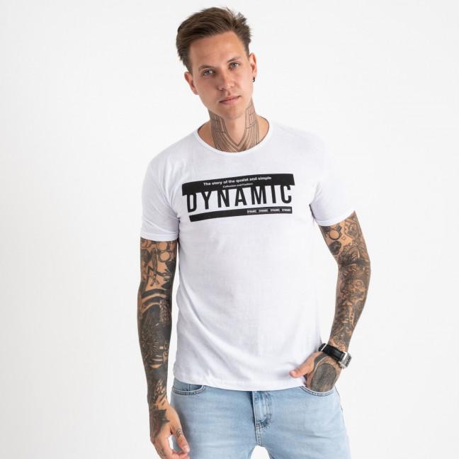 2713-10 белая футболка батальная мужская с принтом (4 ед. размеры: XL.2XL.3XL.4XL) Футболка: артикул 1121231