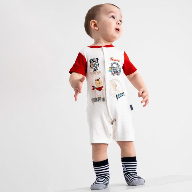 17065 Emotion kids красный комбинезон на мальчика 1-9 мес. (6 ед. размеры: 62.62.68.68.74.74) Emotion kids: артикул 1118179