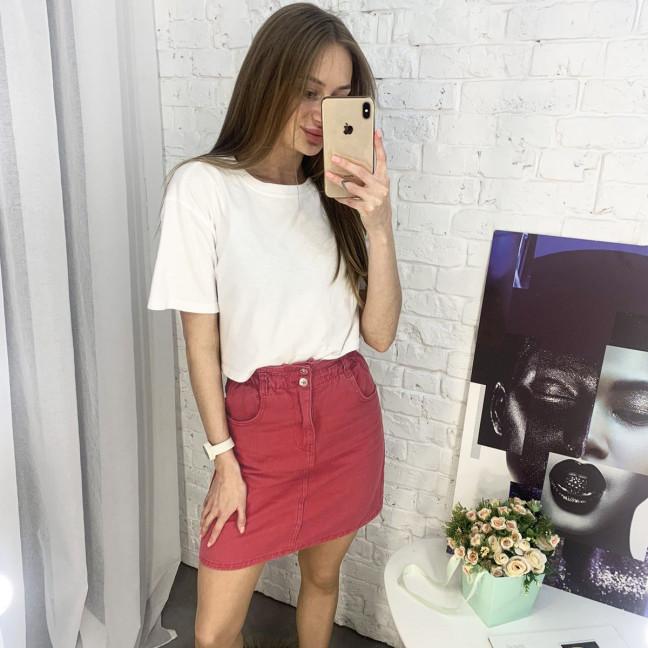 3418 юбка джинсовая красная котоновая (6 ед. размеры: XS.S/2.M/2.L) Юбка: артикул 1118547
