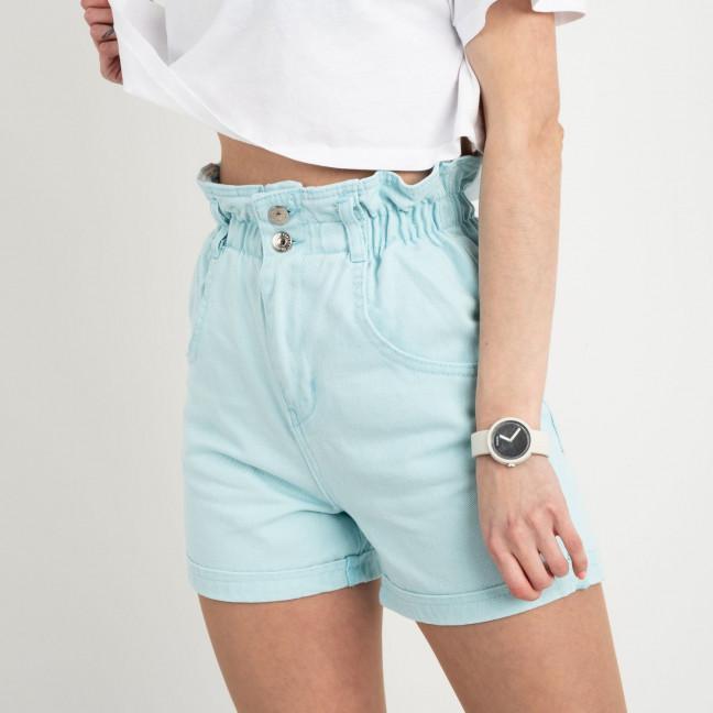 3662 шорты джинсовые мятные  котоновые ( 8 ед. размеры: 25/2.26/3.28/2.30 ) Шорты: артикул 1122204