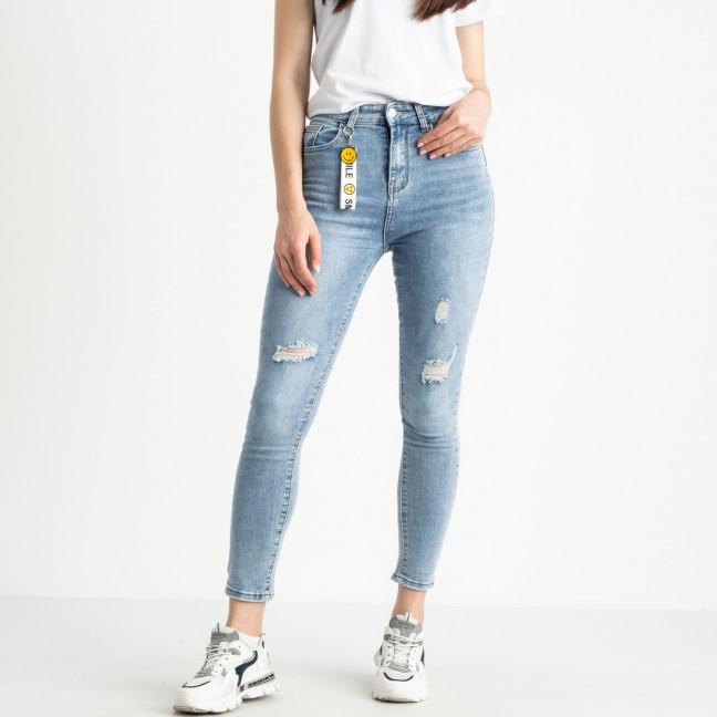 0693  New Jeans американка полубатальная голубая стрейчевая (6 ед. размеры: 28.29.30.31.32.33) New Jeans: артикул 1121477