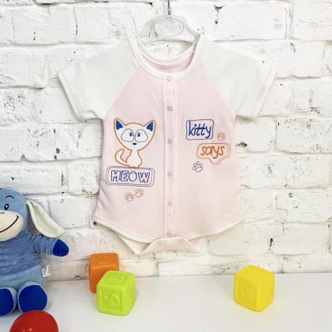 0187-2 розовый боди детский на 1-9 мес. ( 4 ед. размеры: 56.62.68.74) Маленьке сонечко: артикул 1121774