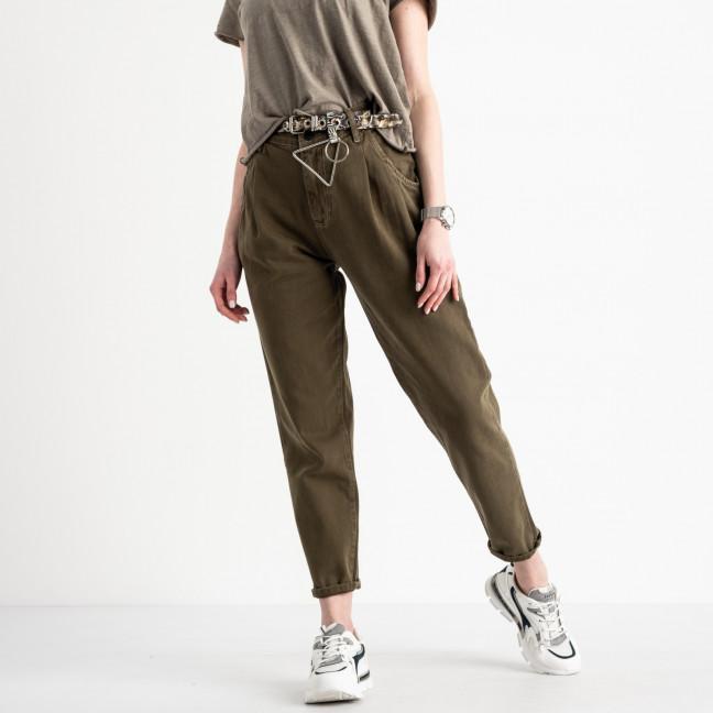0460 Whats up 90s джинсы-балоны женские хаки котоновые (5 ед. размеры: 26.27.28.29.30) Whats up 90s: артикул 1119358