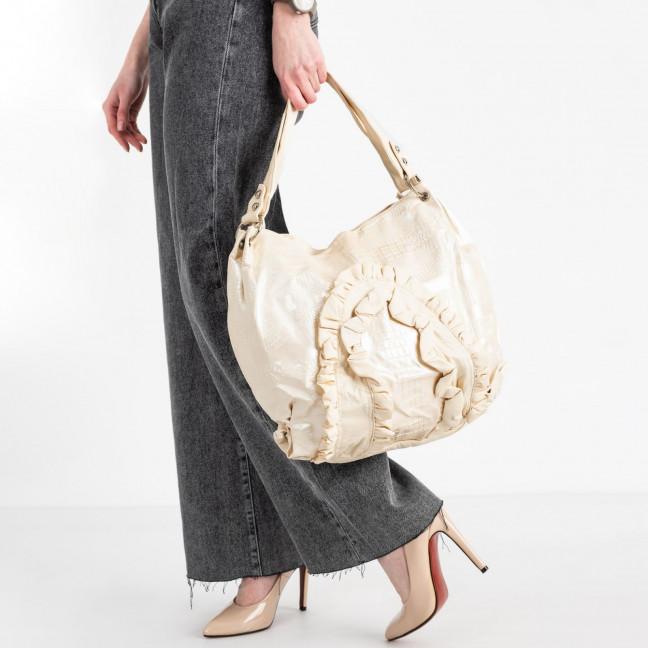 86167 бежевая сумка из эко кожи  (5 ед )  Сумка: артикул 1121150