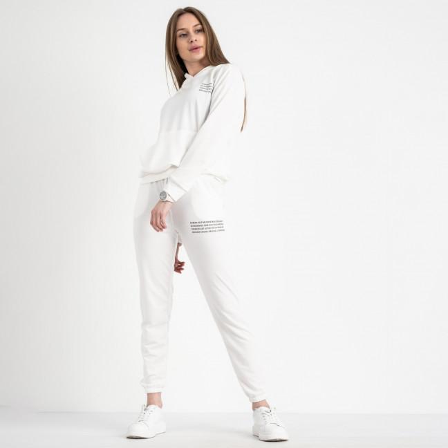 15225-11 молочный женский спортивный костюм из двунитки (4 ед. размеры: S.M.L.XL) Спортивный костюм: артикул 1119944
