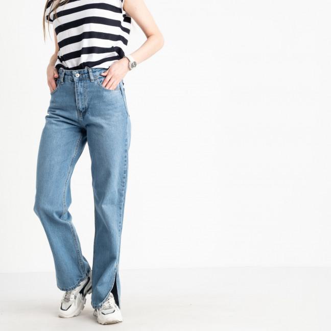 1109-9 джинсы женские голубые котоновые с разрезом (9 ед. размеры:25.26.28/2.30/3.32/2) Джинсы: артикул 1122478