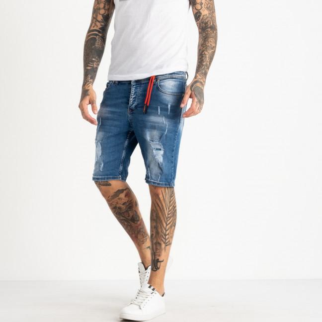0465-105 Icon 2 шорты мужские джинсовые синие стрейчевые (10 ед. размеры: 30.31/2.32/2.33/2.34.36.38) Icon 2: артикул 1121141