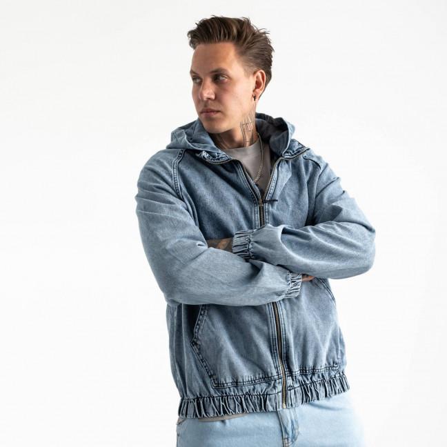 0028-5 In Yesir куртка джинсовая темно-голубая котоновая (6 ед. размеры: S.M.L/2.XL.XXL) In Yesir: артикул 1121441