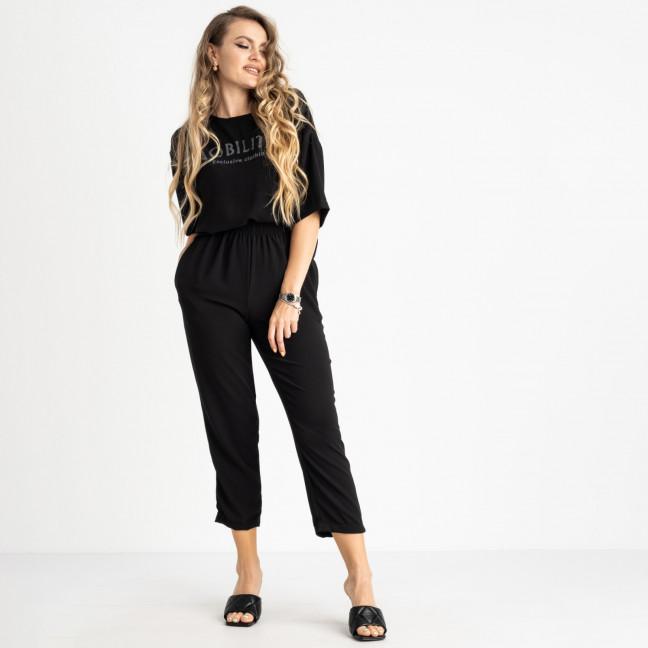 9005-1 черный спортивный костюм женский полубатальный ( 5 ед. размеры: 46.48.50.52.54) отправка заказов 21.06 Спортивный костюм: артикул 1122369