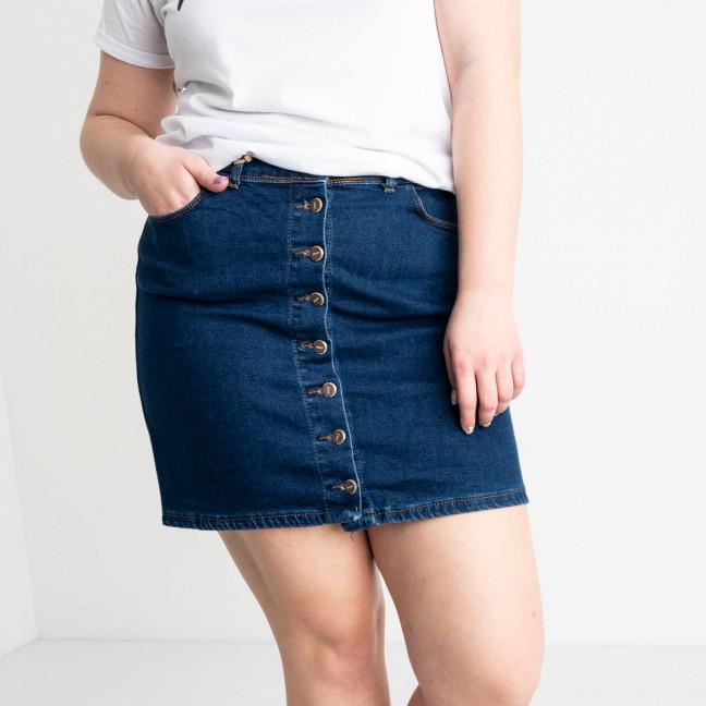 41093-01 Arox юбка полубатальная синяя стрейчевая (4 ед. размеры: 40.42.44.46) Arox: артикул 1118980