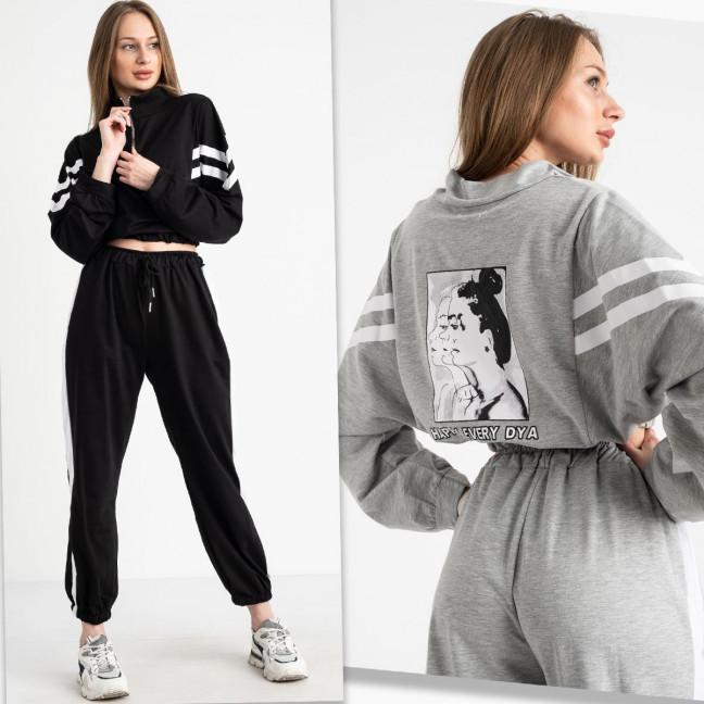 7695-2 M&C спортивный костюм женский микс 2-х цветов серый и черный (3 ед. размеры: универсал S-L ) M&C: артикул 1122619