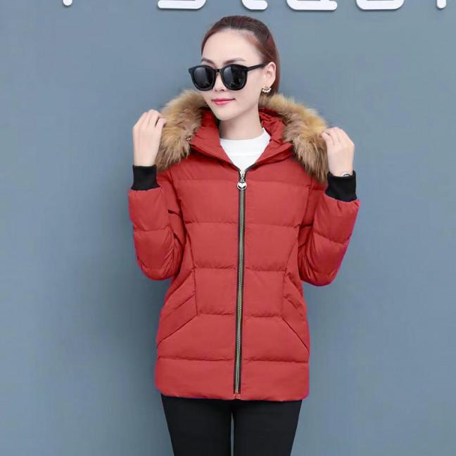 6937-3 куртка красная женская на синтепоне (6 ед. размеры: M.L.2XL/2.3XL.4XL) Куртка: артикул 1125590