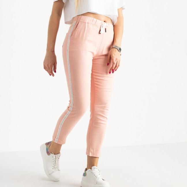 0218-3 Yimeite пудра брюки полубатальные женские стрейчевые (6 ед. размеры: 28.29.30.31.32.33) Yimeite: артикул 1120809