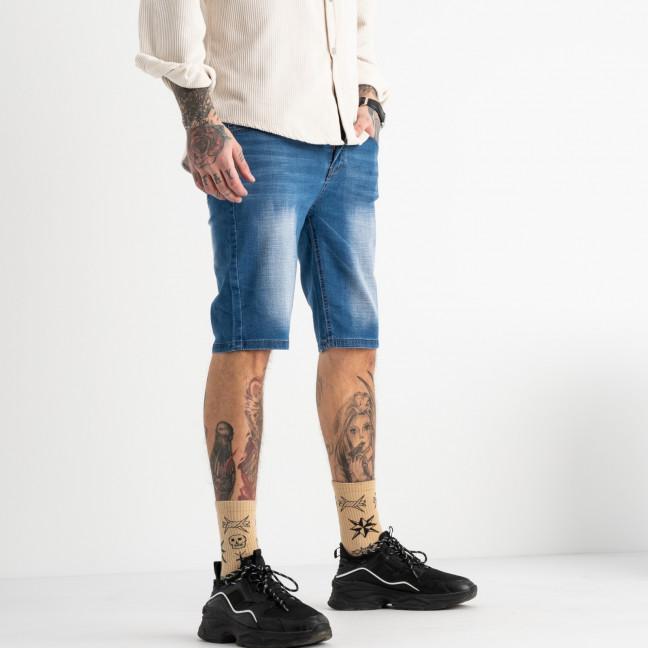 7002-01 Pobeda шорты джинсовые мужские синие стрейчевые (29,30,31,33,34,36,38, 7 ед.) Pobeda: артикул 1109954