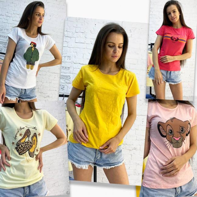 2701-99 футболка женская микс 5-ти моделей и цветов без выбора цветов (20 ед. размеры:S.M.L.XL) МИКС: артикул 1122929