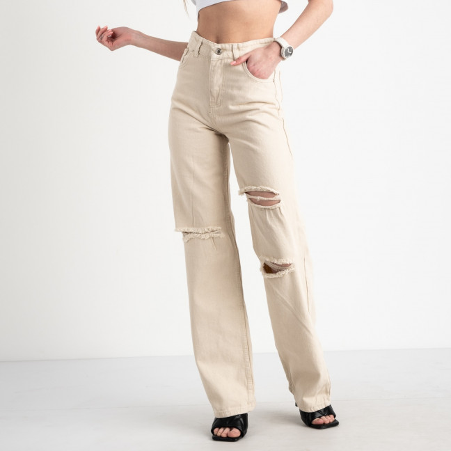 2185 Plus Denim джинсы женские молочные котоновые (8 ед. размеры:25.26/2.28/2.30/2.32) Plus Denim: артикул 1122340