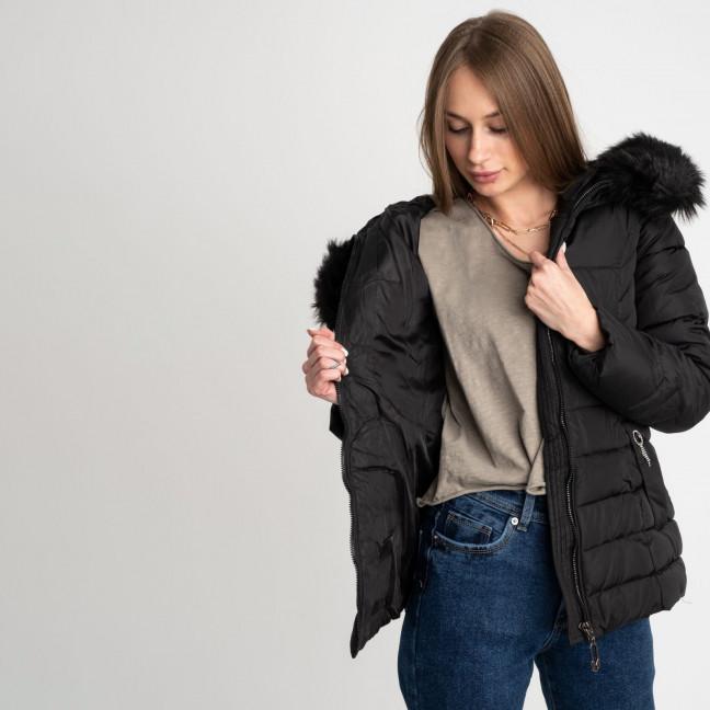 0906-11 черная куртка женская на синтепоне (3 ед. размеры: L.XL.2XL) Куртка: артикул 1123513