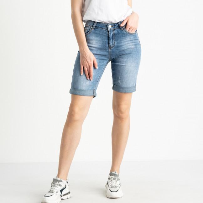 0711 New Jeans шорты полубатальные голубые стрейчевые (6 ед. размеры: 28.29.30.31.32.33) New Jeans: артикул 1121482