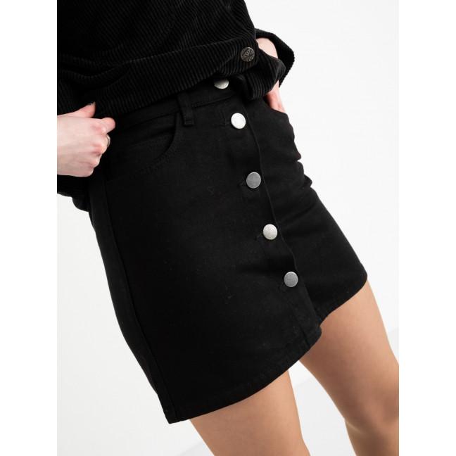 0200-1 Defile юбка джинсовая черная котоновая  (7 ед. размеры: 34.34.36.36.38.38.40) Defile: артикул 1118539