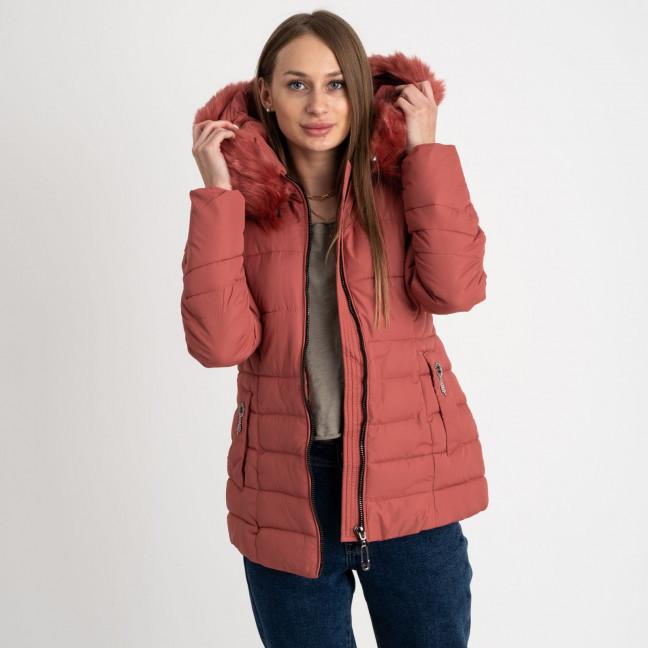 0906-5 кирпичная куртка женская на синтепоне (4 ед. размеры: L.XL.2XL.3XL) Куртка: артикул 1123510