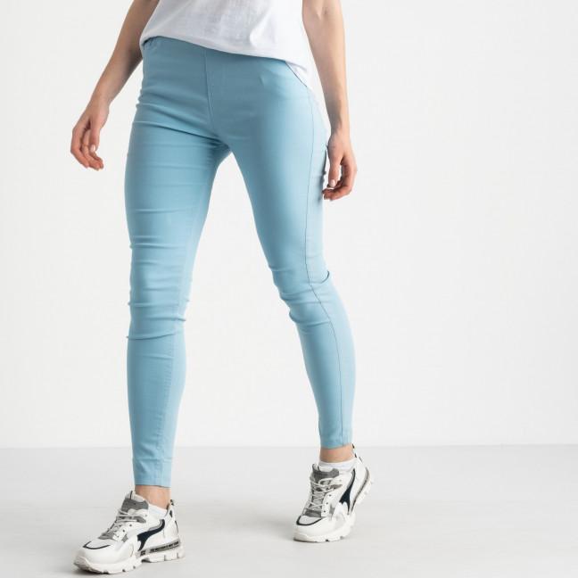 8038-7 Yimeite светло-голубые брюки полубатальные женские стрейчевые (6 ед. размеры: 28.29.30.31.32.33) Yimeite: артикул 1121605
