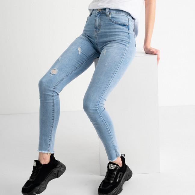0664 New Jeans американка голубая стрейчевая  (6 ед. размеры: 25.26.27.28.29.30) New Jeans: артикул 1117672
