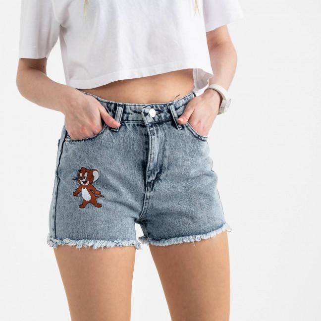 0435 Miss Aura шорты джинсовые голубые котоновые  (8 ед. размеры: 34.36/2.38/2.40.42.44) Miss Aura: артикул 1121990