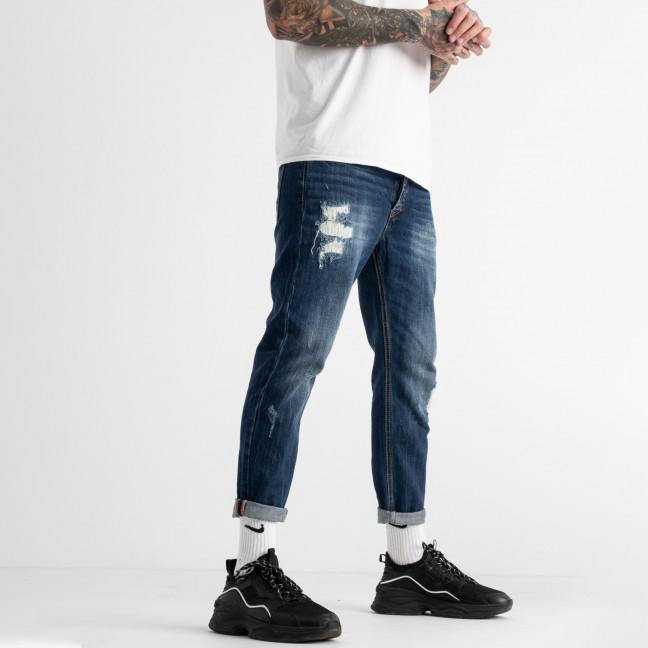 0181  мужские джинсы синие котоновые (6 ед. размеры: 30.32.32.34.34.36) Warren Webber: артикул 1117245