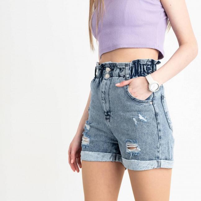0450 Miss Aura шорты джинсовые голубые котоновые  (8 ед. размеры: 34.36/2.38/2.40.42.44) Miss Aura: артикул 1121993