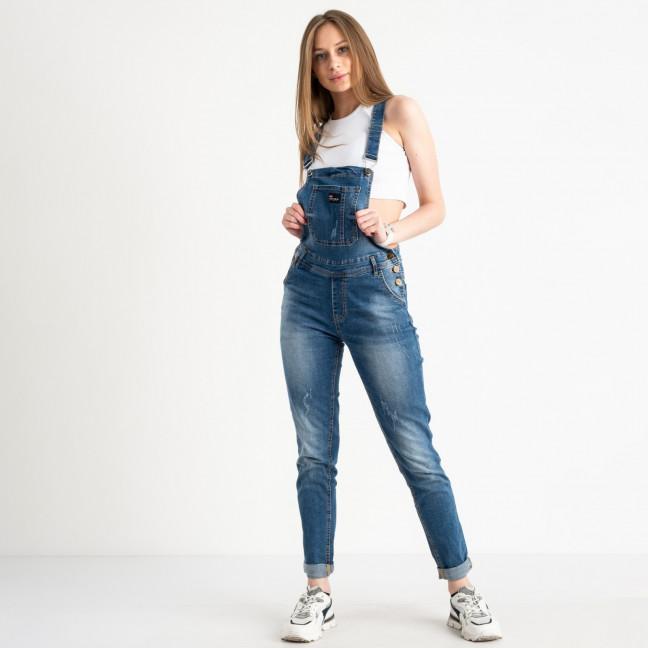 3315-1 Y Relucky комбинезон джинсовый женский синий стрейчевый ( 6 ед. размеры: 25.26.27.28.29.30) Relucky: артикул 1110603