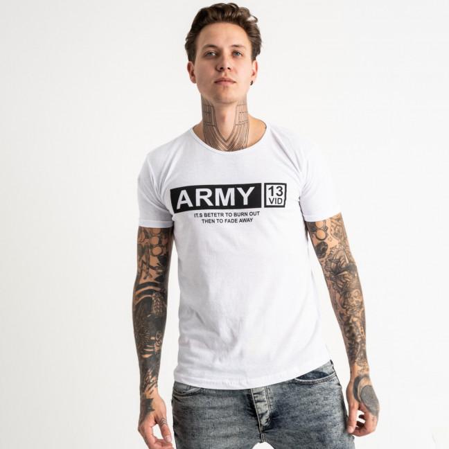 2717-10 белая футболка батальная мужская с принтом (4 ед. размеры: XL.2XL.3XL.4XL) Футболка: артикул 1119528