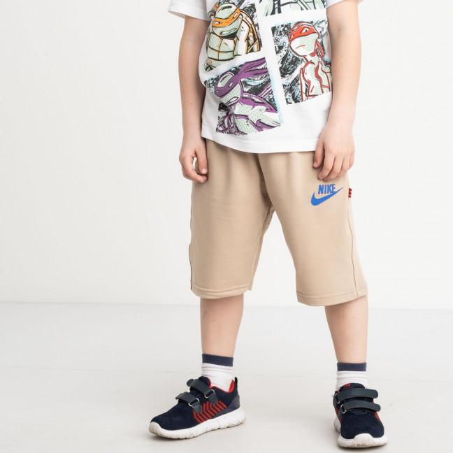 1651 шорты детские на мальчика 6-10 лет бежевые трикотажные (5 ед. размеры: 40.42.44.46.48) Шорты: артикул 1120448