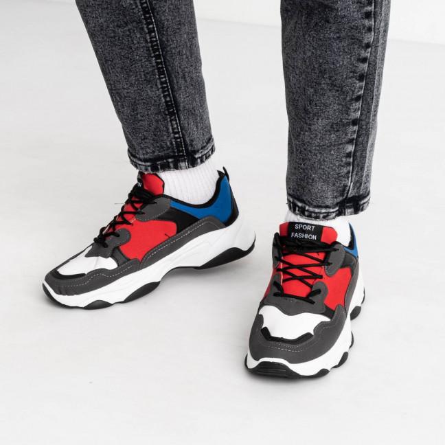 071120-21 серо-красные кроссовки мужские (10 ед. размеры: 39.40.40.41.41.42.42.43.43.44) Кроссовки: артикул 1119489