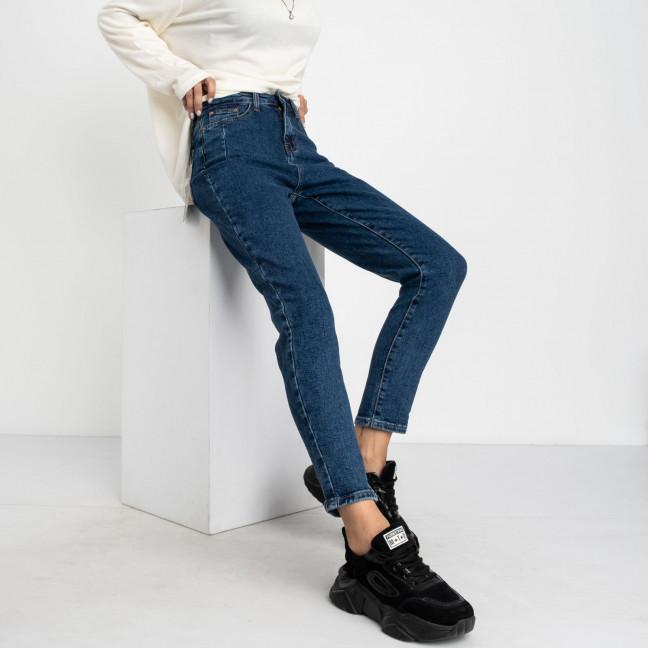 5020 New Jeans мом синий стрейчевый (6 ед. размеры: 25.26.27.28.29.30) New Jeans: артикул 1123625