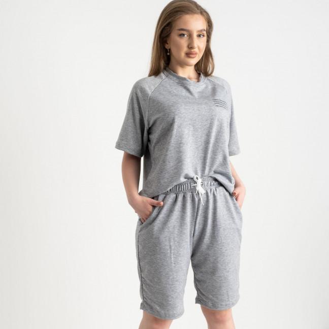 2215-6 Mishely серый женский спортивный костюм батальный из двунитки  (4 ед. размеры: 50.52.54.56) Mishely: артикул 1122661