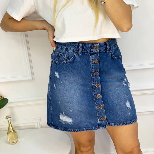 0028-124 Arox юбка джинсовая полубатальная синяя котоновая  (6 ед. размеры: 42.44.46.46.48.50) Arox: артикул 1118551