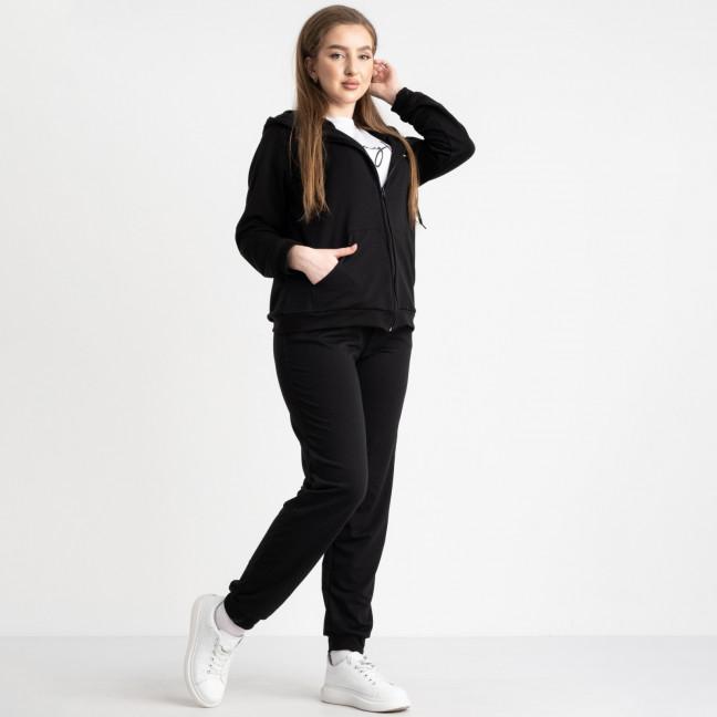 15111-1 Mishely черный женский спортивный костюм батальный из двунитки ( 4 ед. размеры: 50.52.54.56)  Mishely: артикул 1117426